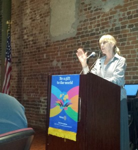 Grapevine Rotary speaking about Johnnie Come Lately kathleenmrodgers