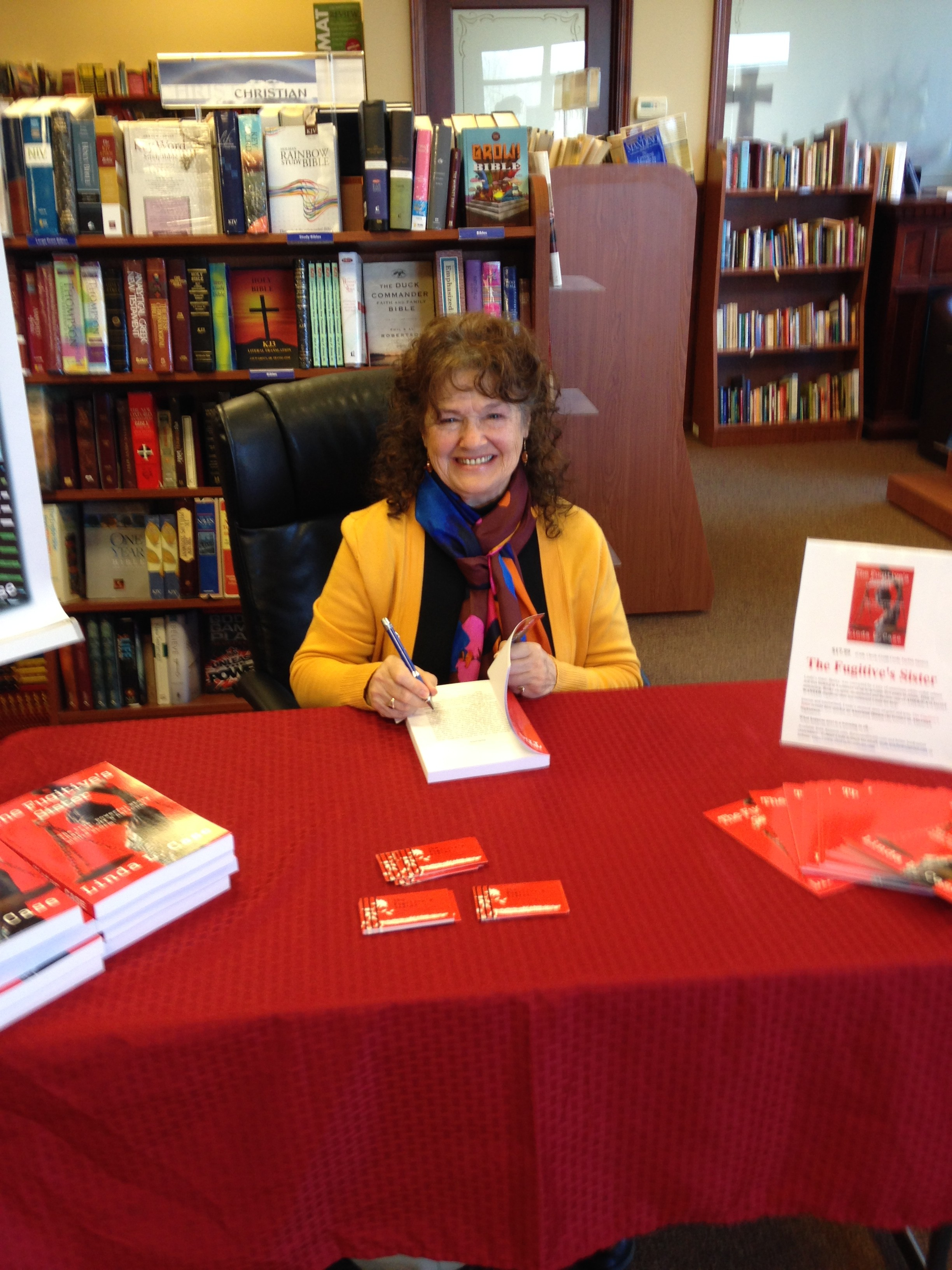 Linda at book signing