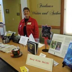 Mary at book signing